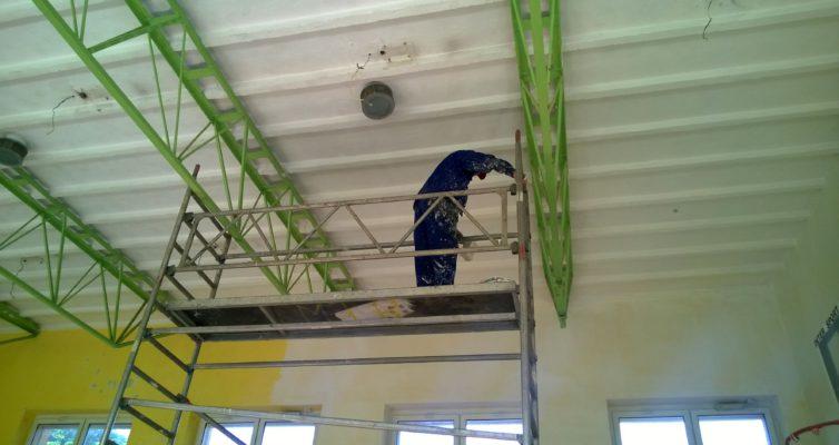 Na sali gimnastycznej imponujące tempo prac